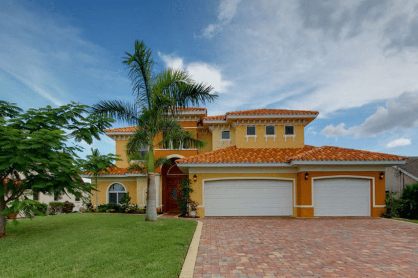 florida house with spanish tile roof