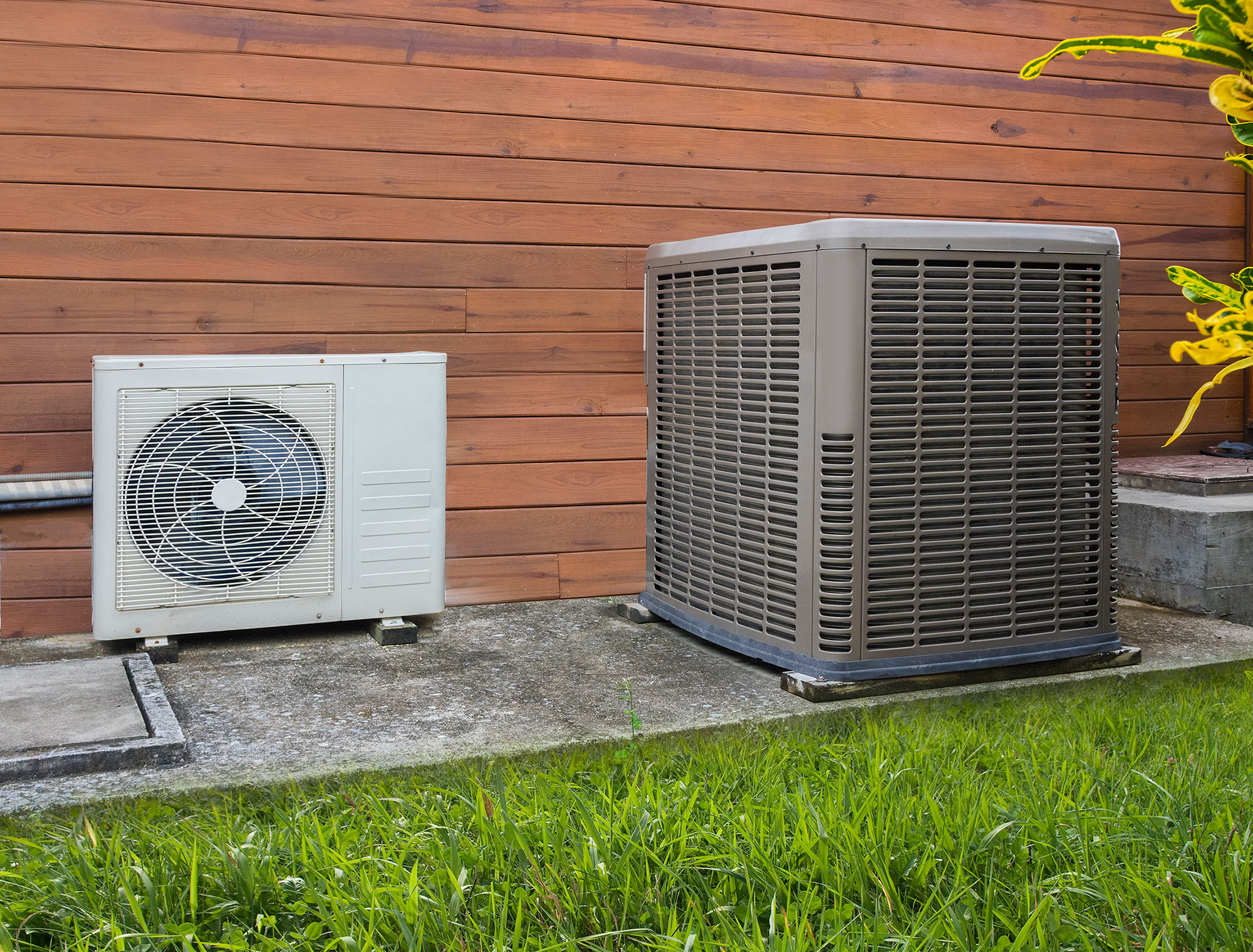 air conditioner handler outside
